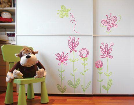 Рисунок на детской мебели своими руками