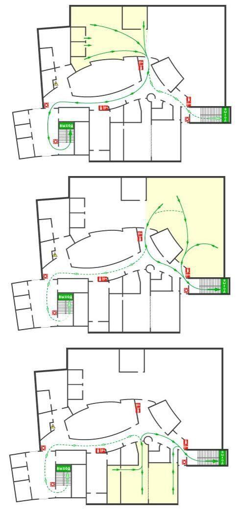 плана эвакуации для мест