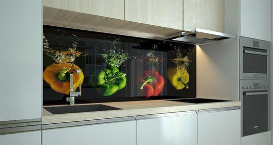 Фартук для кухни из стекла цены кемерово